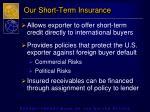 our short term insurance