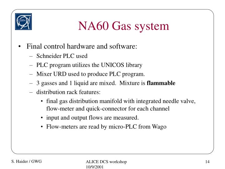 NA60 Gas system