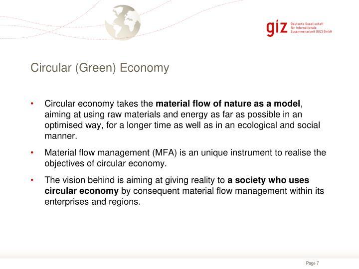 Circular (Green) Economy