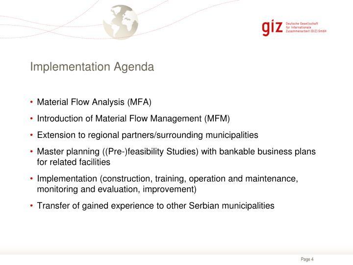 Implementation Agenda