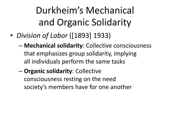 Durkheim's Mechanical