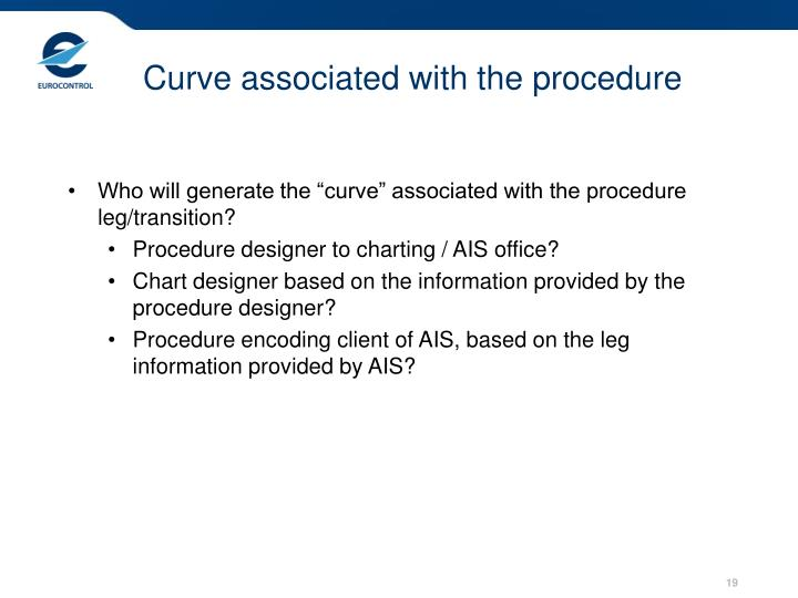 Curve associated with the procedure