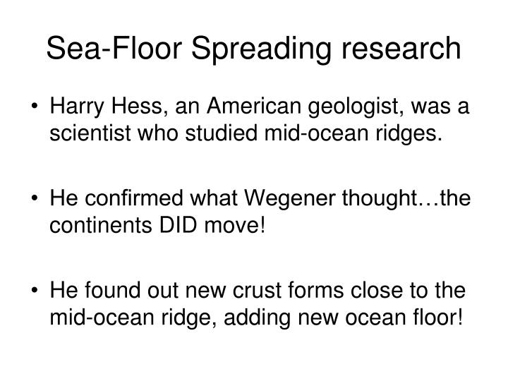 Sea-Floor Spreading research
