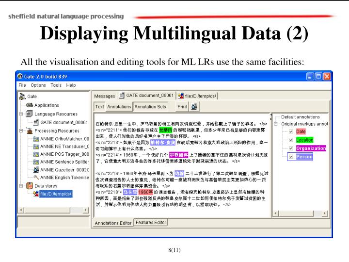 Displaying Multilingual Data (2)