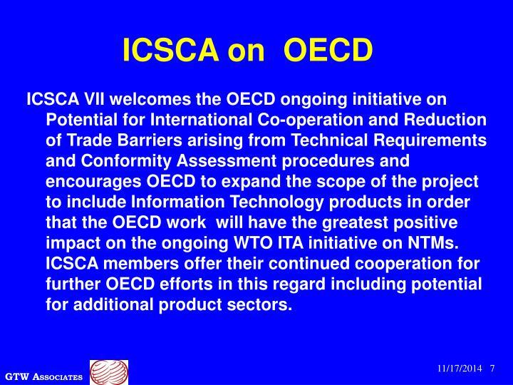ICSCA on  OECD