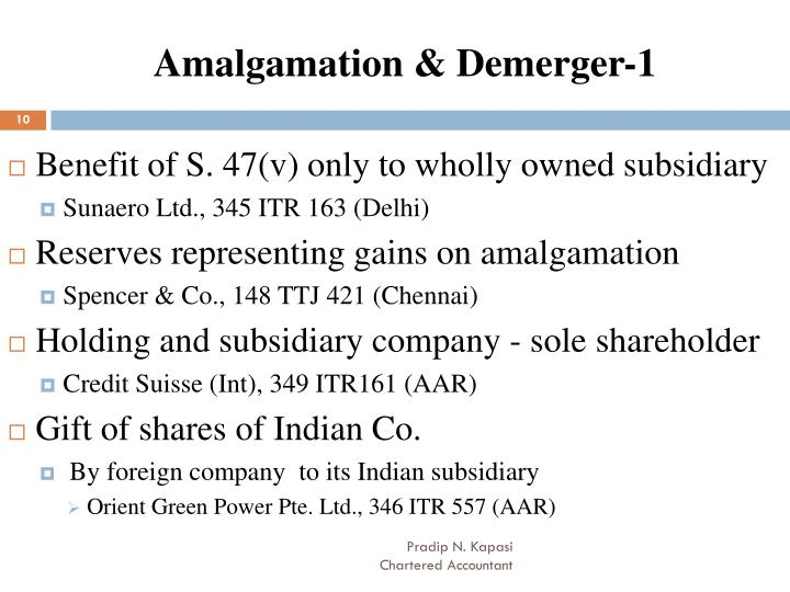 Amalgamation & Demerger-1