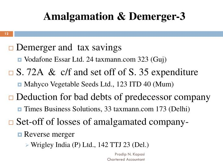 Amalgamation & Demerger-3