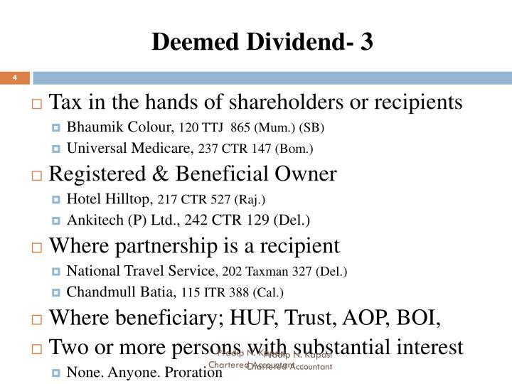Deemed Dividend- 3