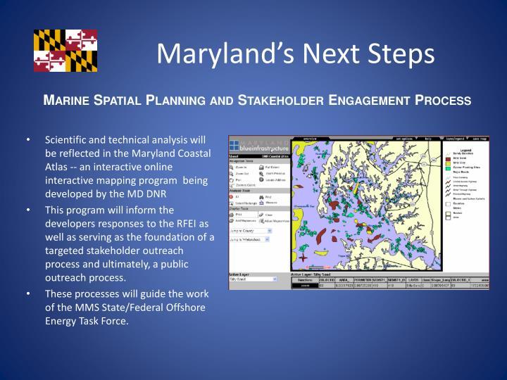 Maryland's Next Steps