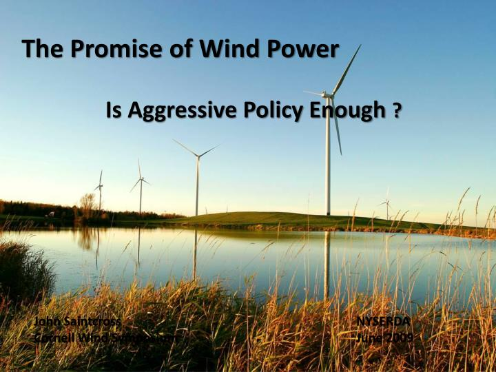The Promise of Wind Power