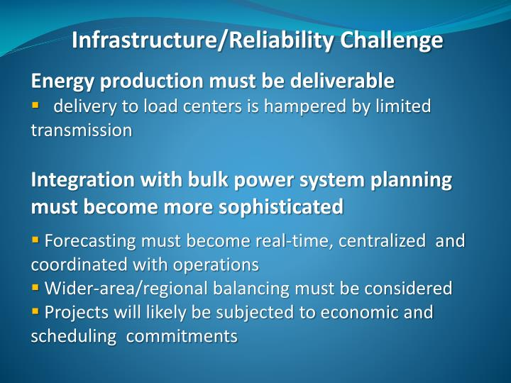 Infrastructure/Reliability Challenge