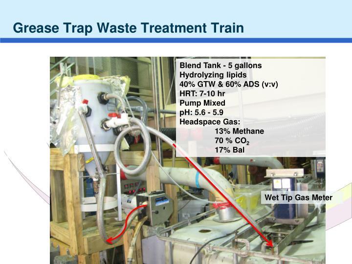 Grease Trap Waste Treatment Train
