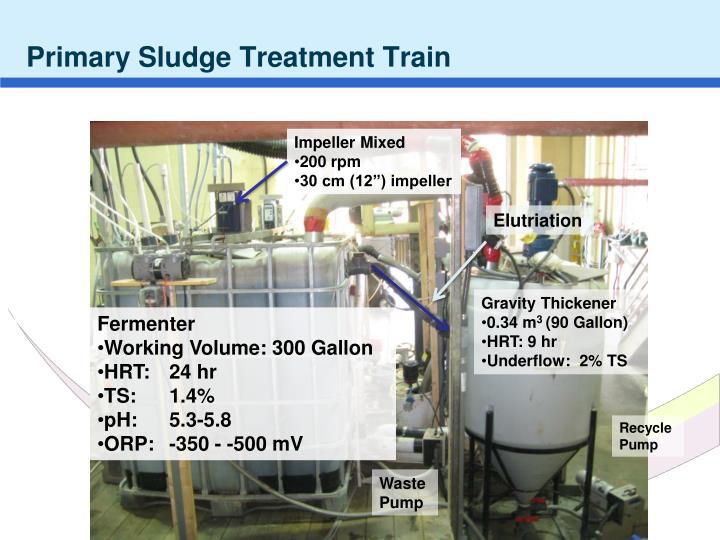 Primary Sludge Treatment Train