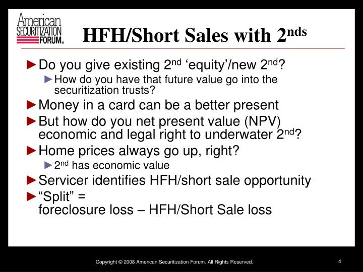 HFH/Short Sales with 2