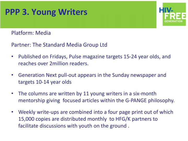 PPP 3. Young Writers