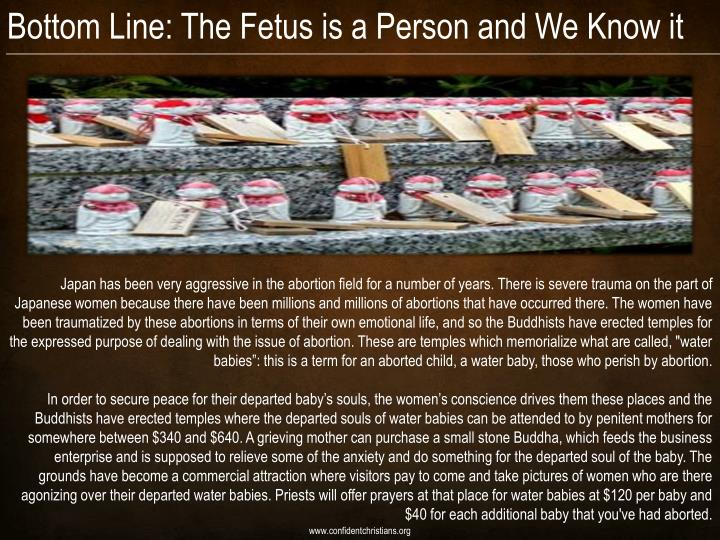 Bottom Line: The Fetus is a Person and We Know it