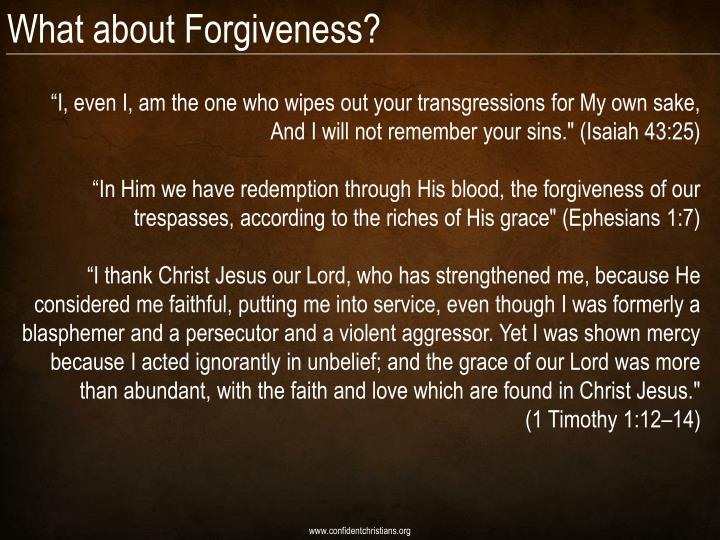 What about Forgiveness?