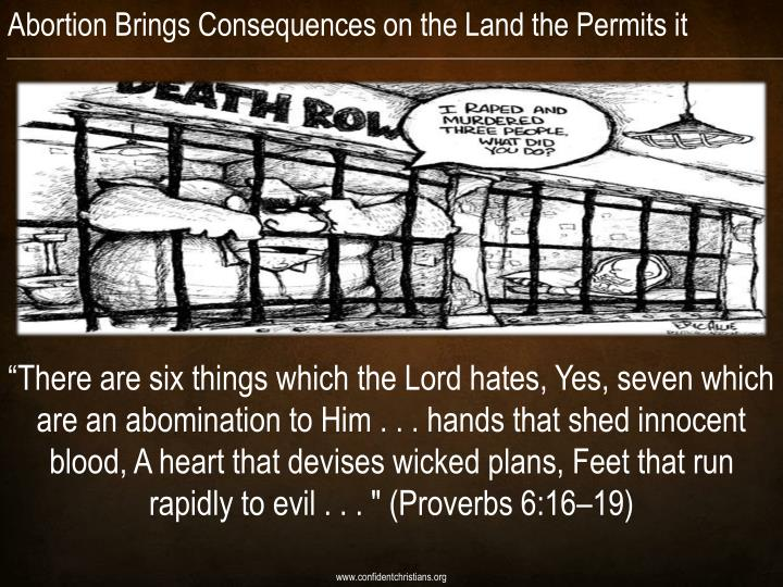 Abortion Brings Consequences on the Land the Permits it