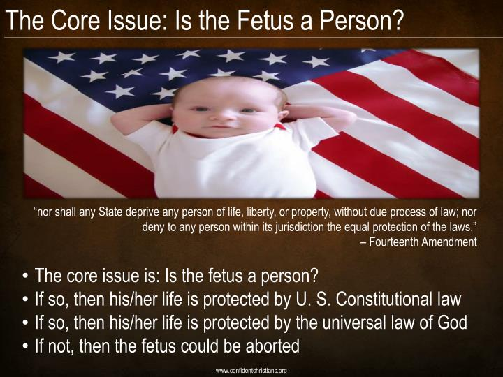 The Core Issue: Is the Fetus a Person?