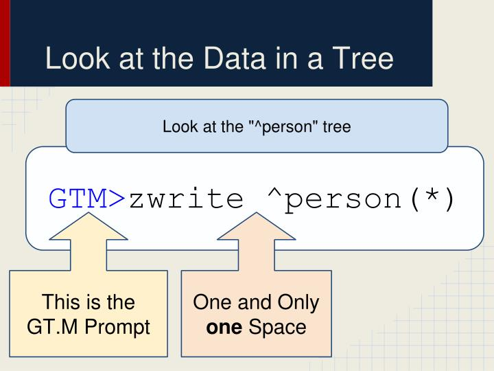 Look at the Data in a Tree