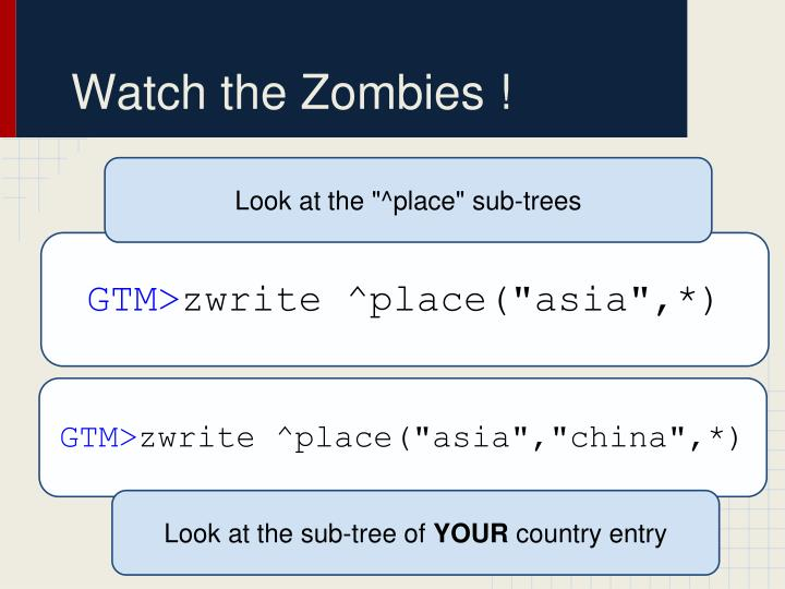 Watch the Zombies !