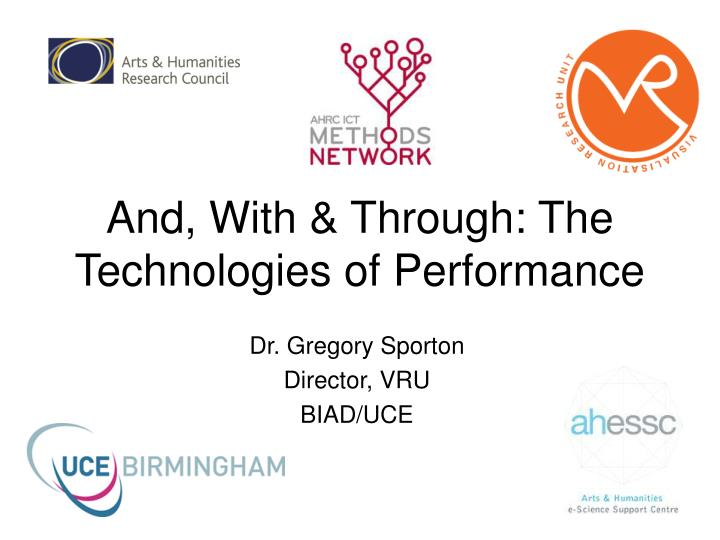 And with through the technologies of performance