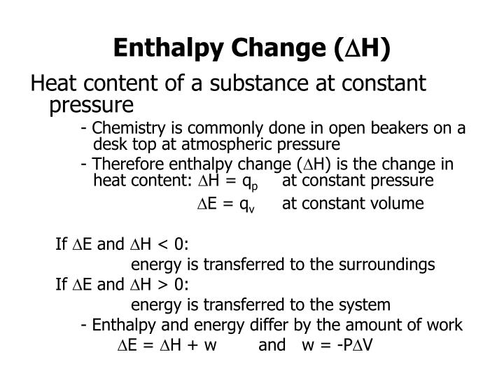 Enthalpy Change (