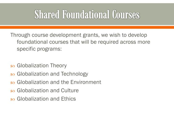 Shared Foundational Courses
