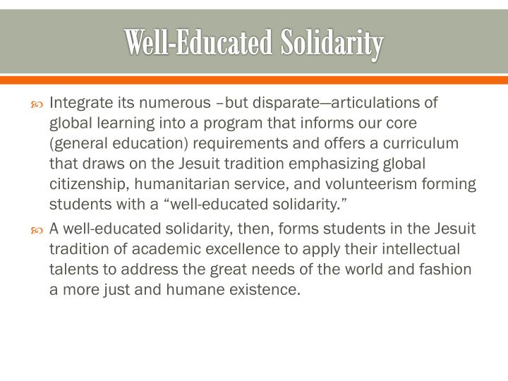 Well-Educated Solidarity