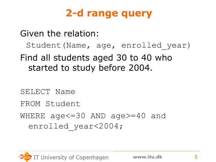 2-d range query
