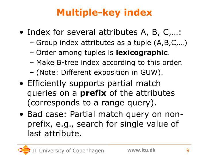 Multiple-key index