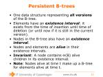 persistent b trees