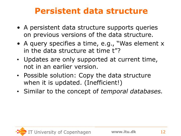 Persistent data structure