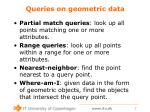 queries on geometric data