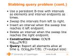stabbing query problem cont
