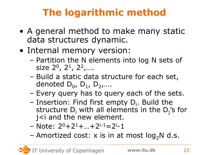 The logarithmic method
