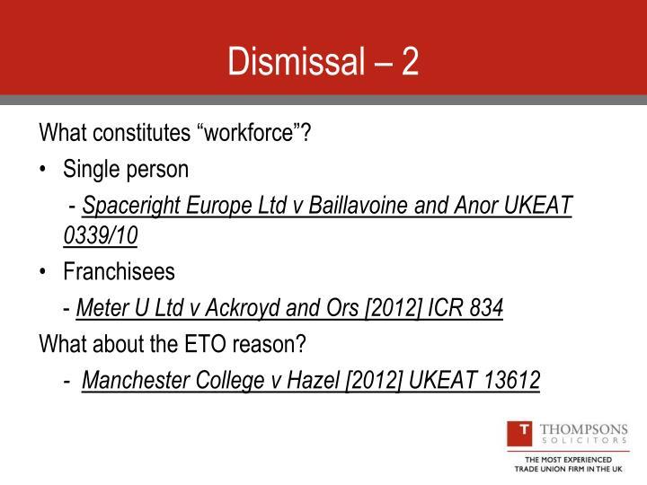 Dismissal – 2