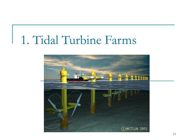 1. Tidal Turbine Farms