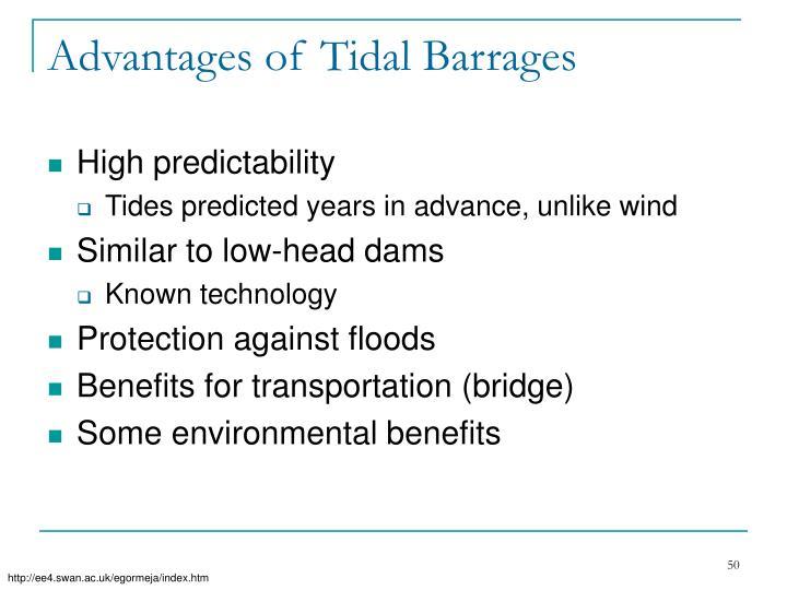 Advantages of Tidal Barrages
