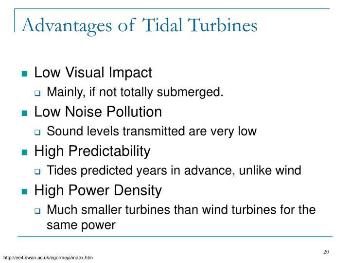 Advantages of Tidal Turbines