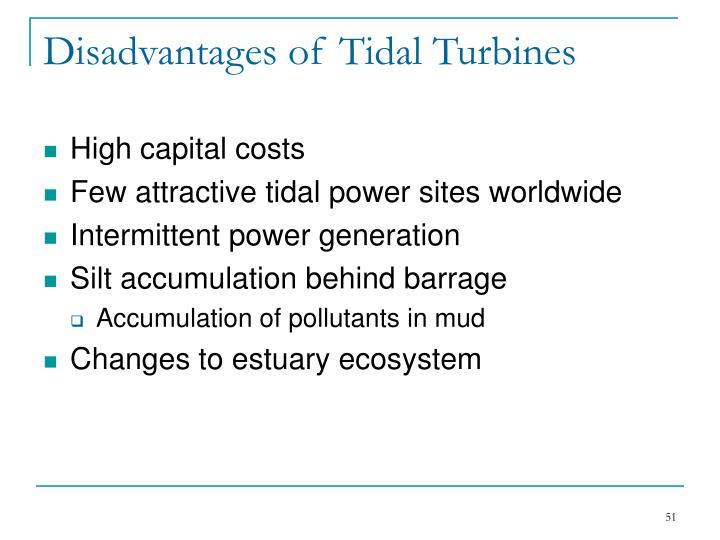 Disadvantages of Tidal Turbines