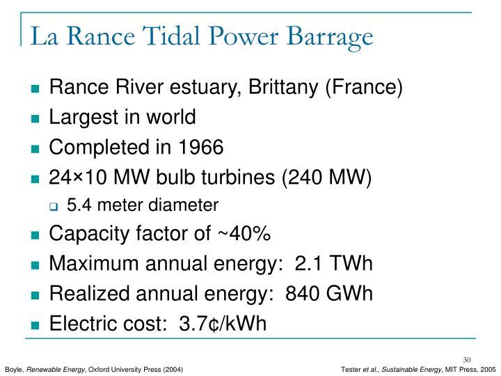 La Rance Tidal Power Barrage