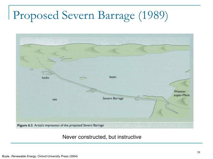Proposed Severn Barrage (1989)