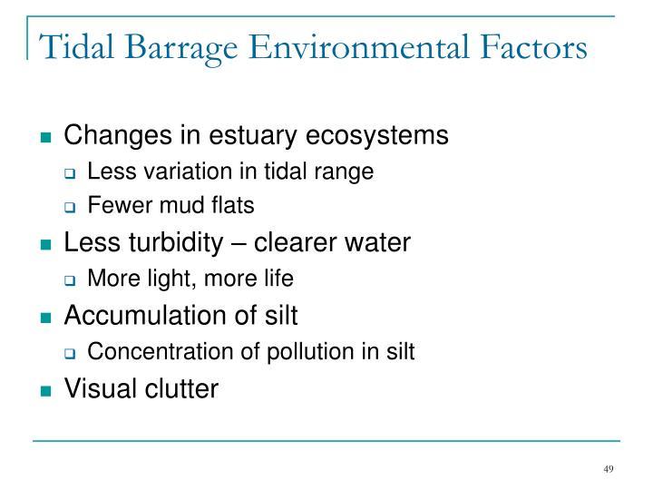 Tidal Barrage Environmental Factors