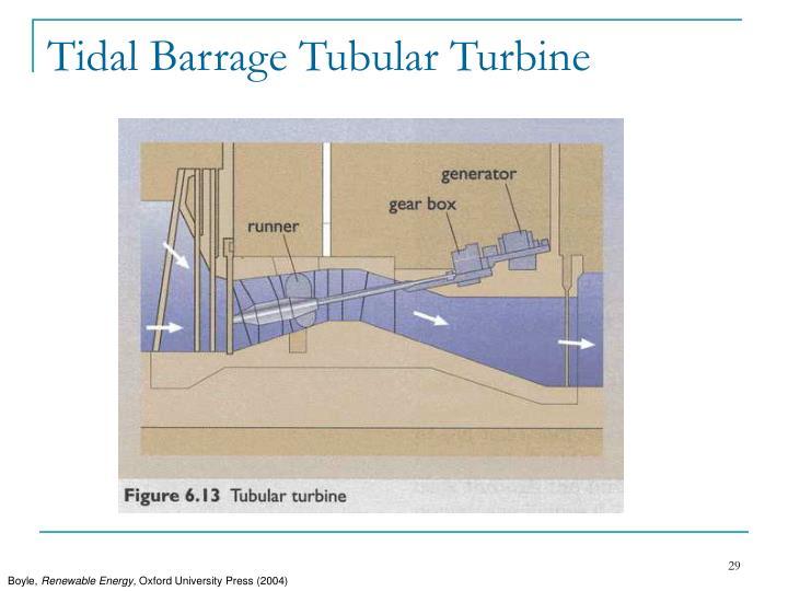 Tidal Barrage Tubular Turbine