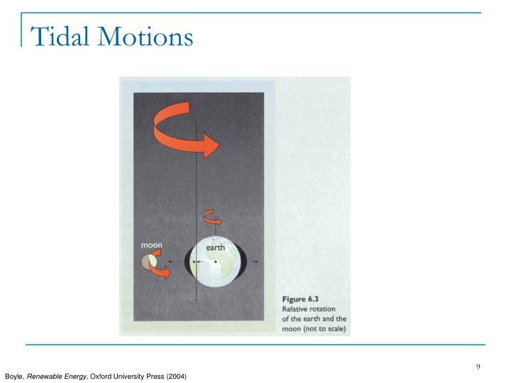 Tidal Motions
