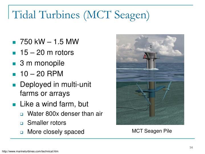 Tidal Turbines (MCT Seagen)