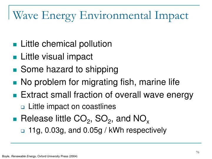 Wave Energy Environmental Impact