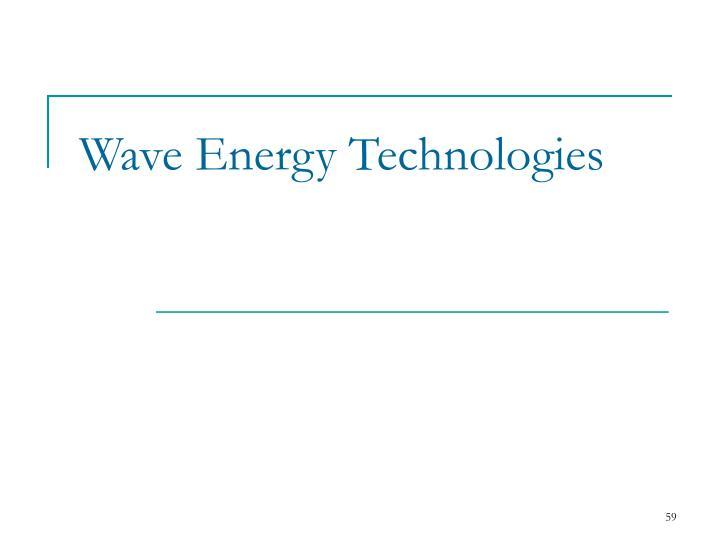 Wave Energy Technologies