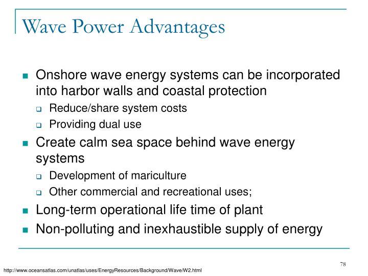 Wave Power Advantages